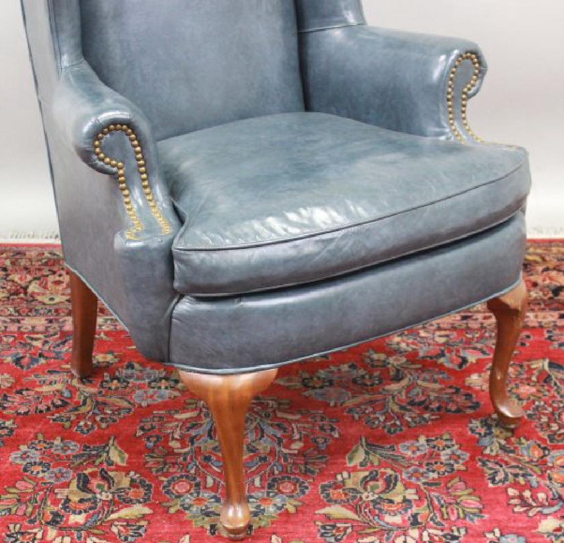 Queen Anne Style Cherry Wing Armchair - 2