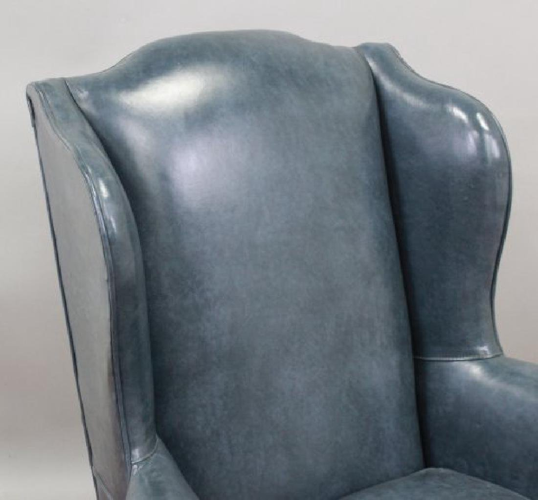 Queen Anne Style Cherry Wing Armchair - 3