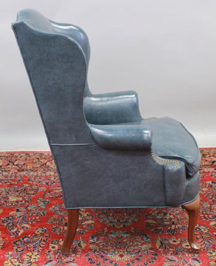 Queen Anne Style Cherry Wing Armchair - 4