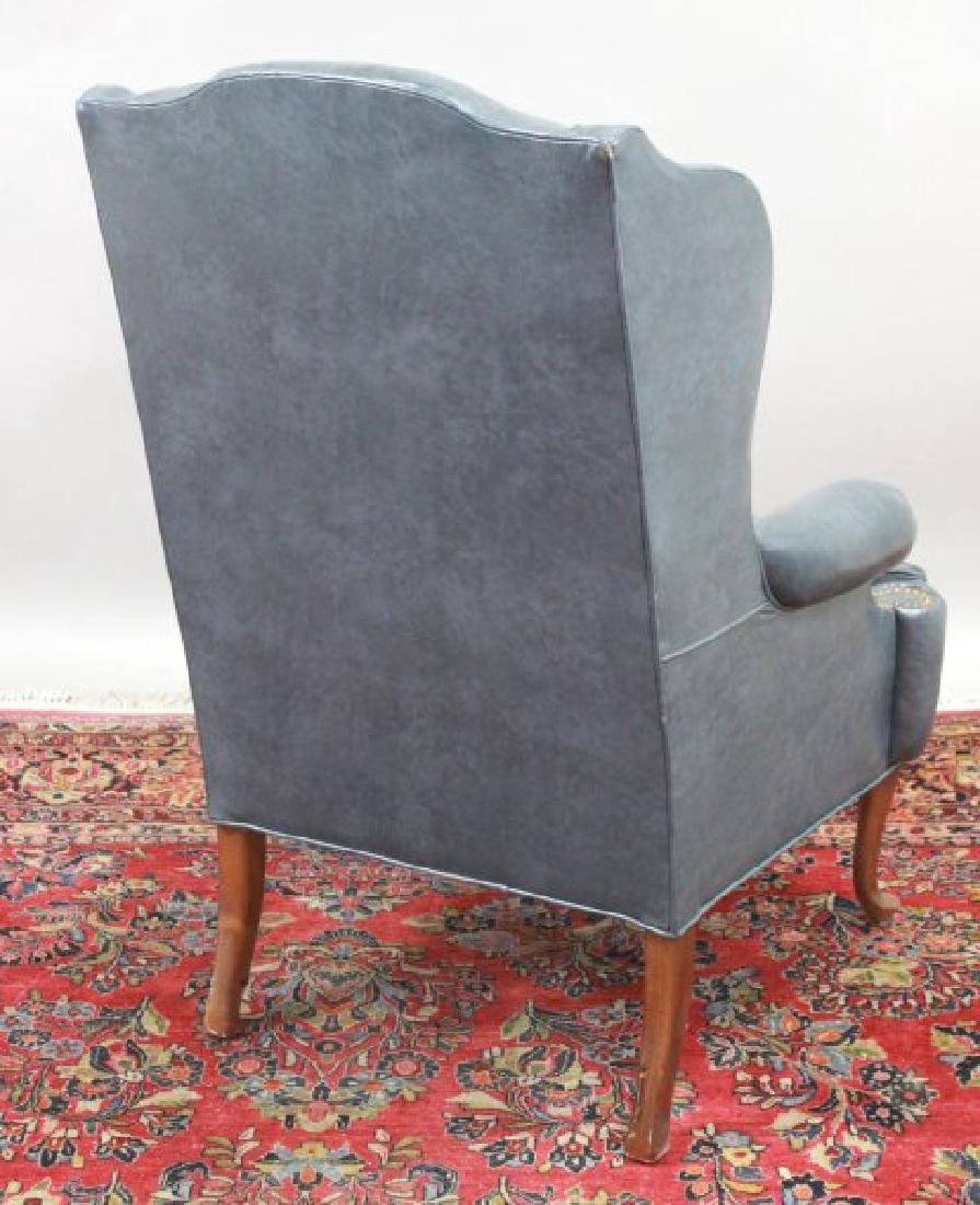 Queen Anne Style Cherry Wing Armchair - 5