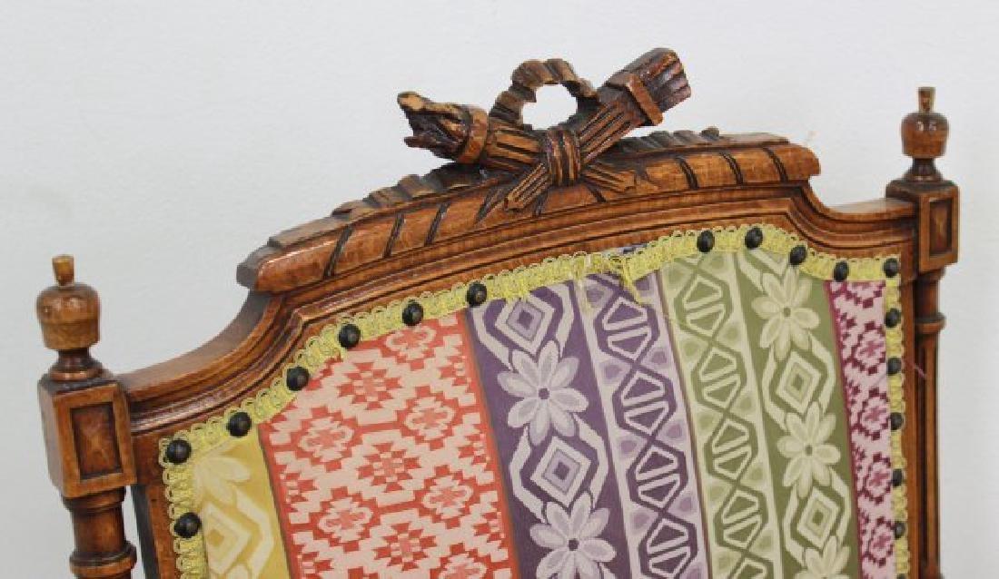 Pair French Walnut Louis XVI Style Armchairs - 5