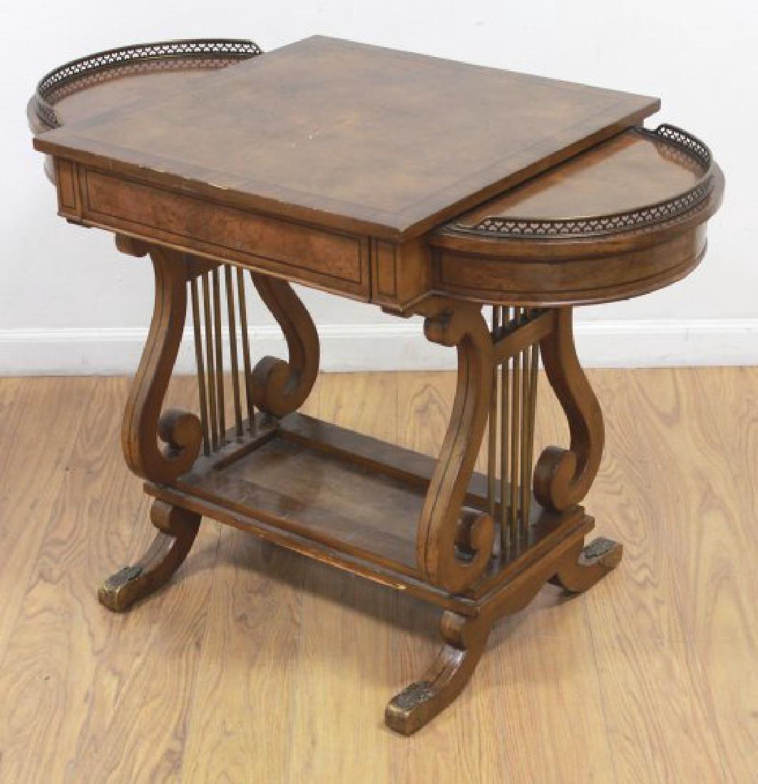 Regency Style Brass Gallery Desk - 2