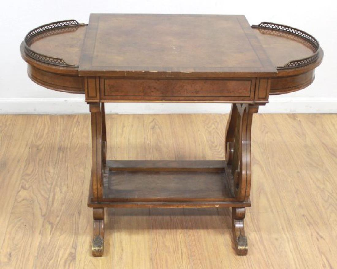 Regency Style Brass Gallery Desk - 3