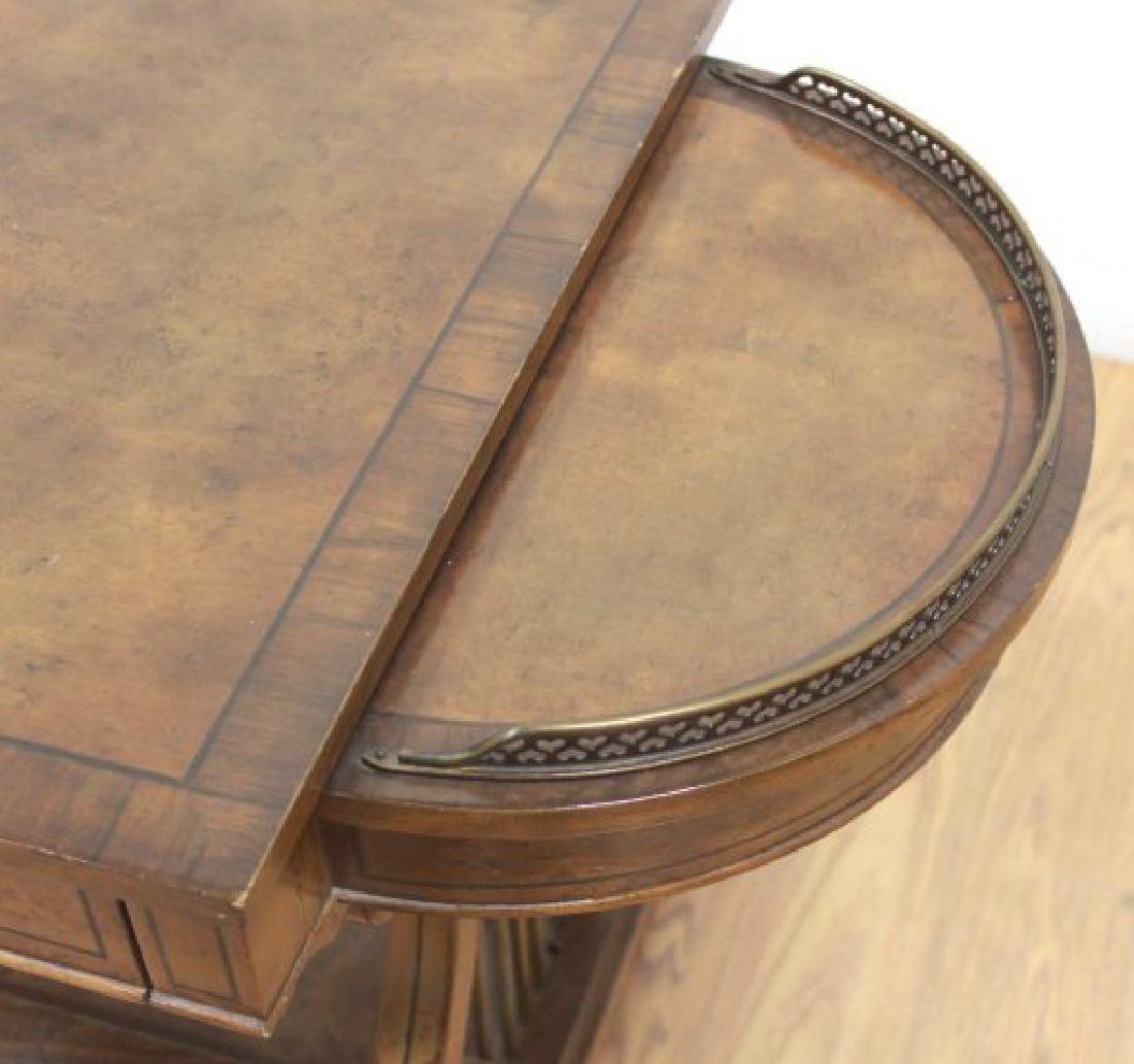 Regency Style Brass Gallery Desk - 4