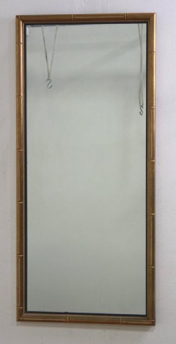 Mid-Century Modern Bamboo Style Wall Mirror
