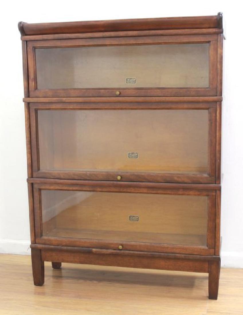 3-Stack Mahogany Bookcase