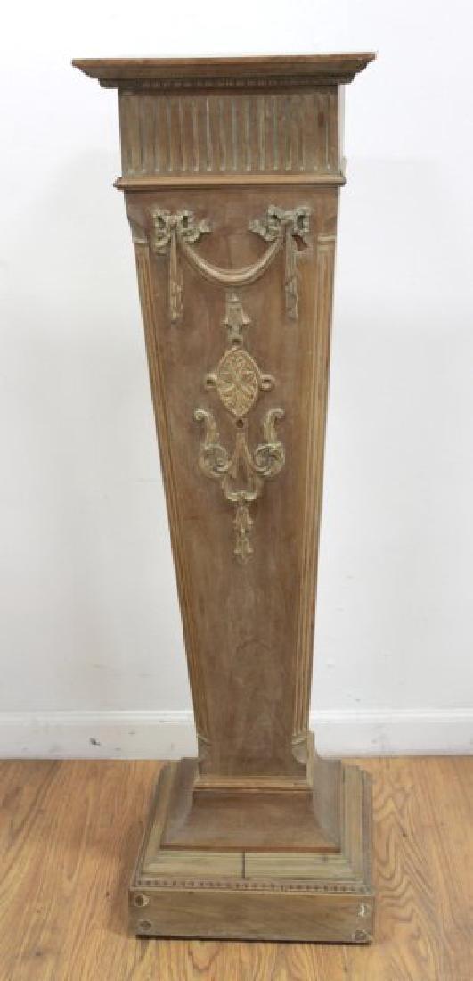 Decorative Wood Pedestal