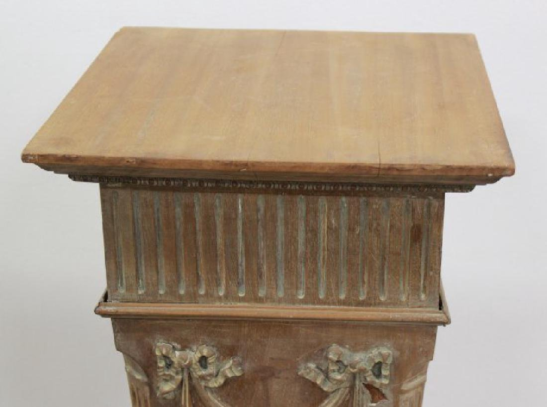 Decorative Wood Pedestal - 3