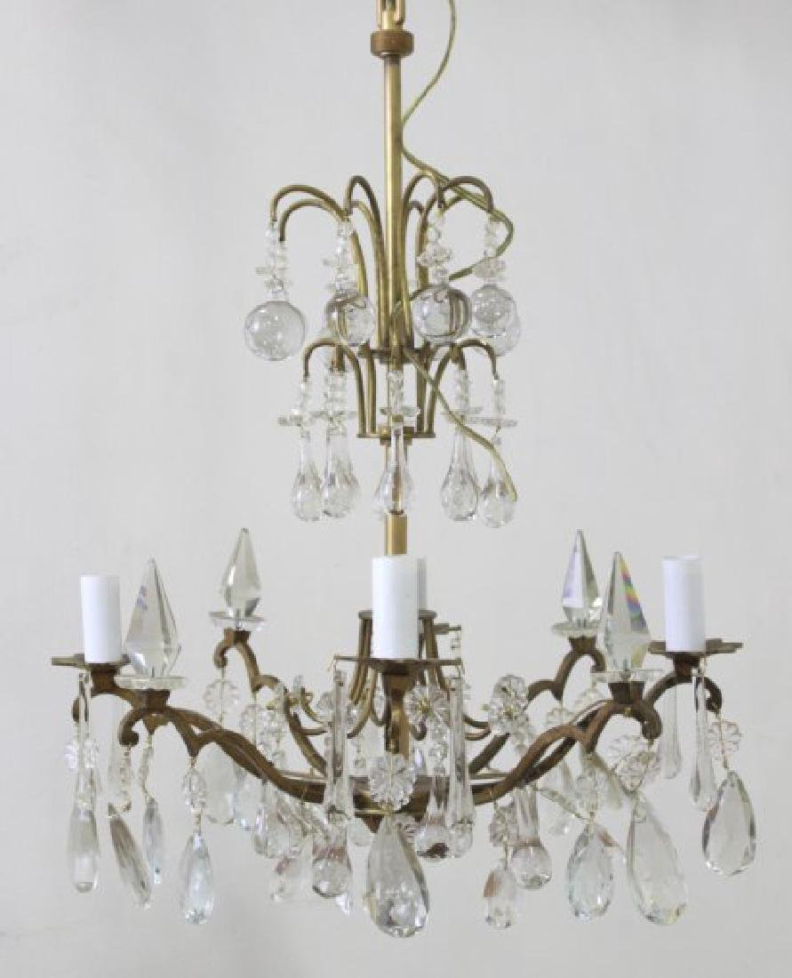Louis XV Style Gilt Metal 4-Light Chandelier