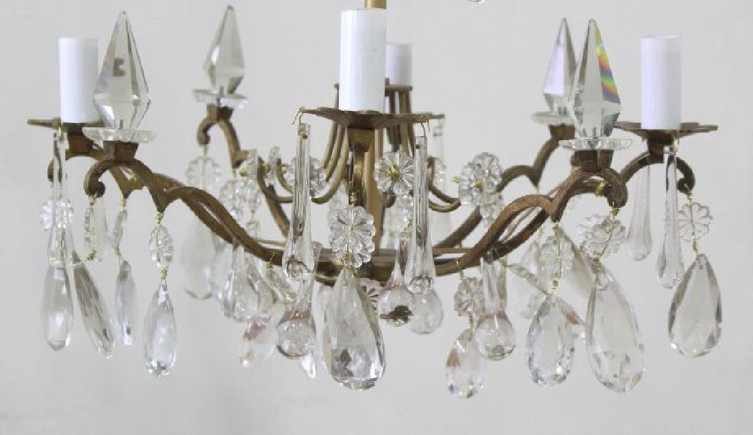 Louis XV Style Gilt Metal 4-Light Chandelier - 2