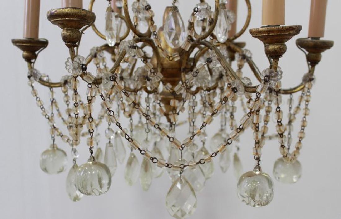 Italian Rococo Style Gilt Metal 6-Light Chandelier - 3