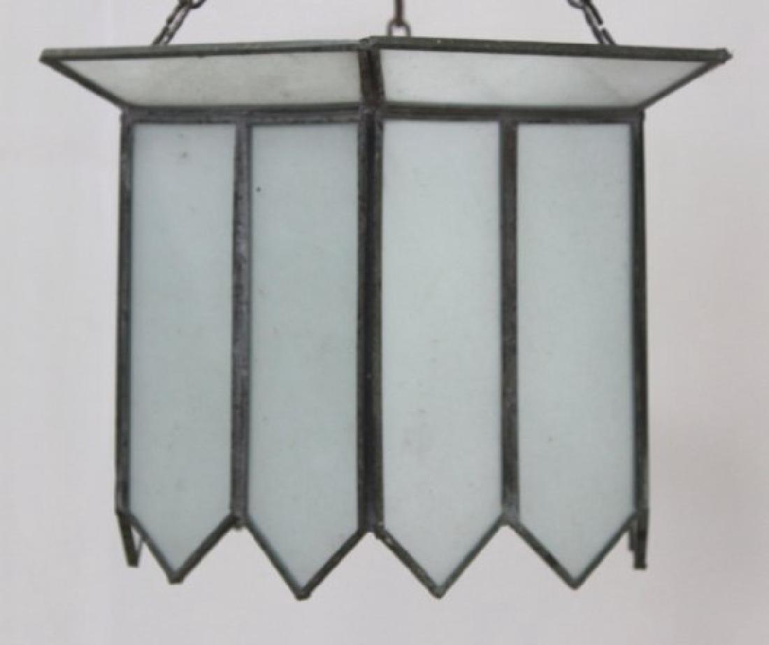 2 Art Deco Leaded Glass Lanterns - 4