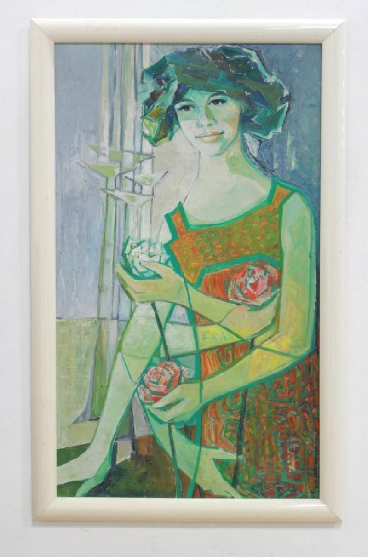 Ilmi Jaskari, Abstract Portrait of Lady w/ Flowers - 2