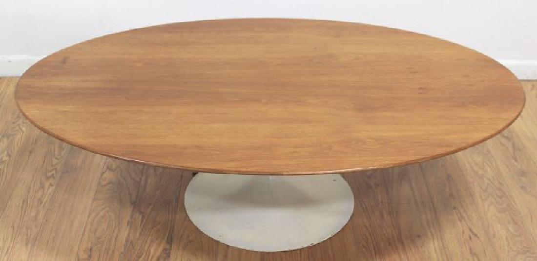 Eero Saarinen Walnut Lacquered Metal Coffee Table - 2