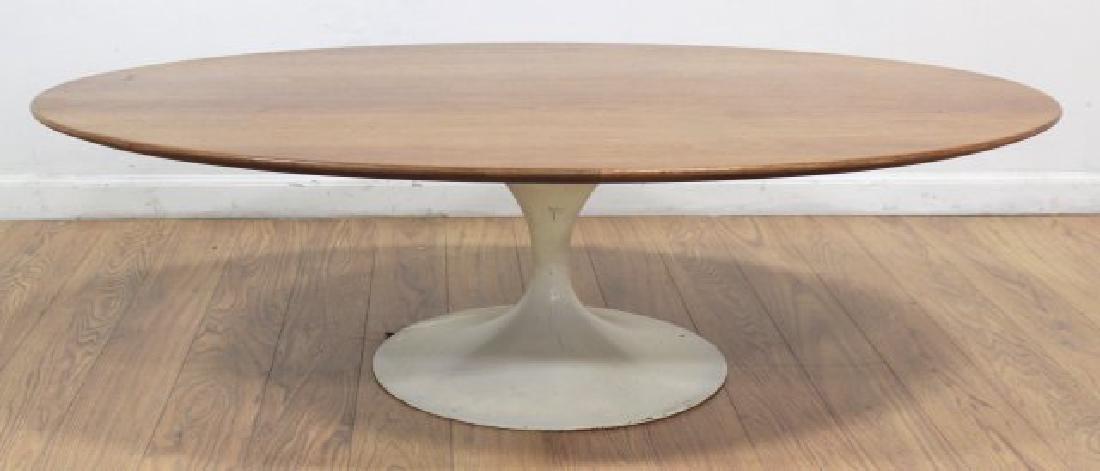 Eero Saarinen Walnut Lacquered Metal Coffee Table - 3