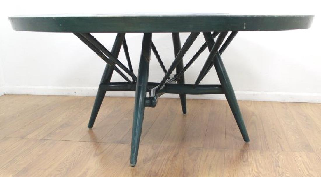 Mid-Century Modern Green Lacquered Gaming Table - 2