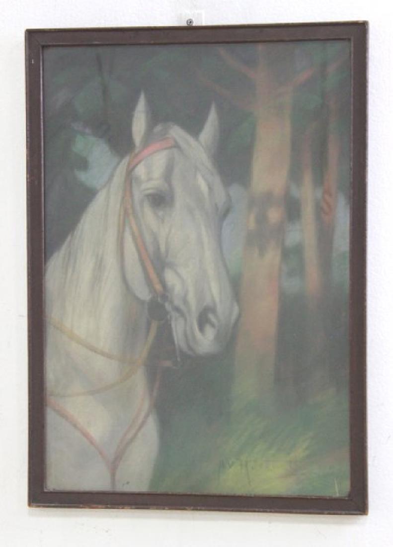 Pair Equestrian Pastels - 2