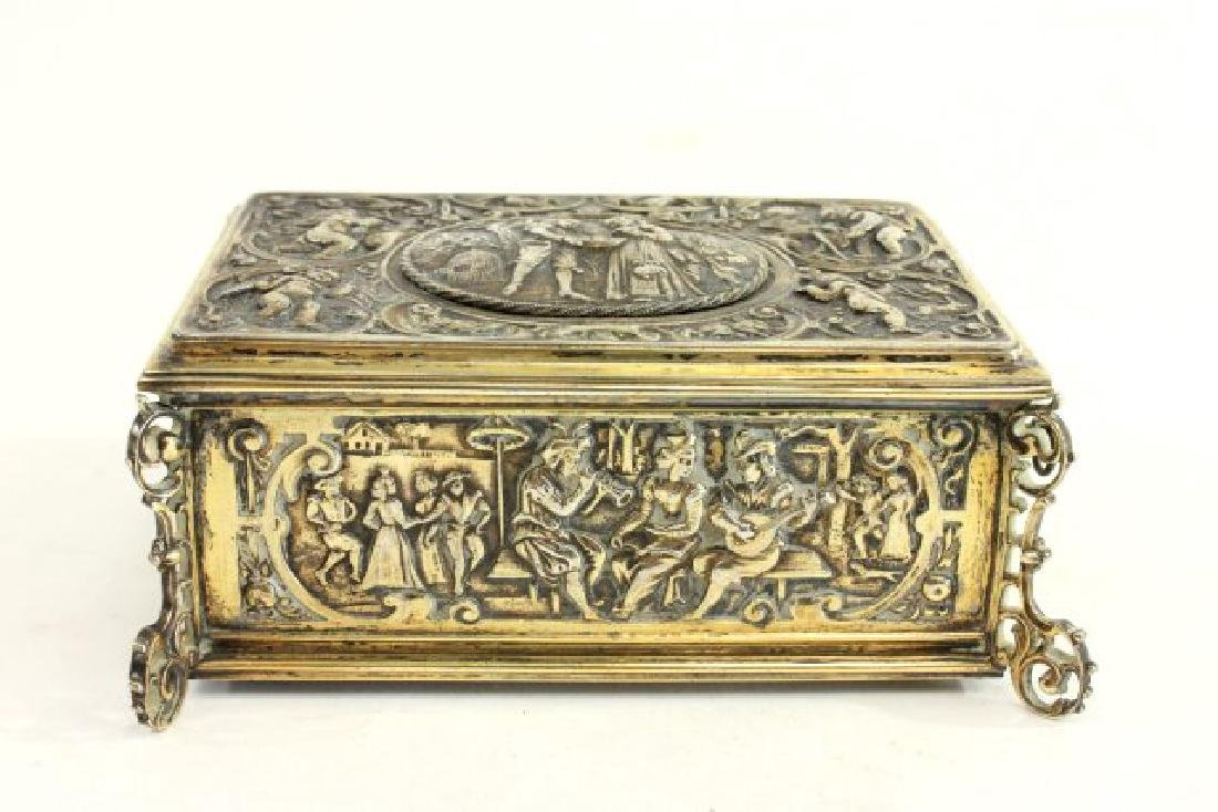Late 19th-Early 20th C. German 800 Silver Bird Box - 5