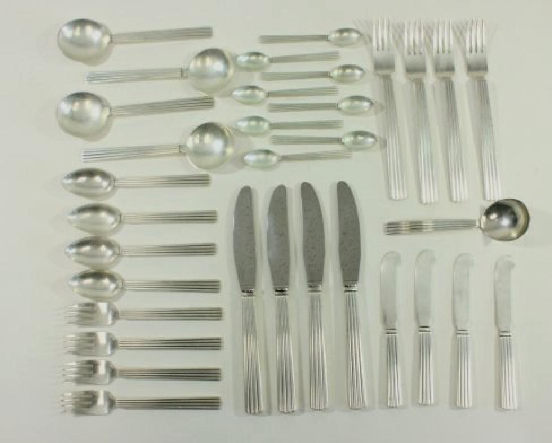 Georg Jensen Sterling Silver Flatware Set