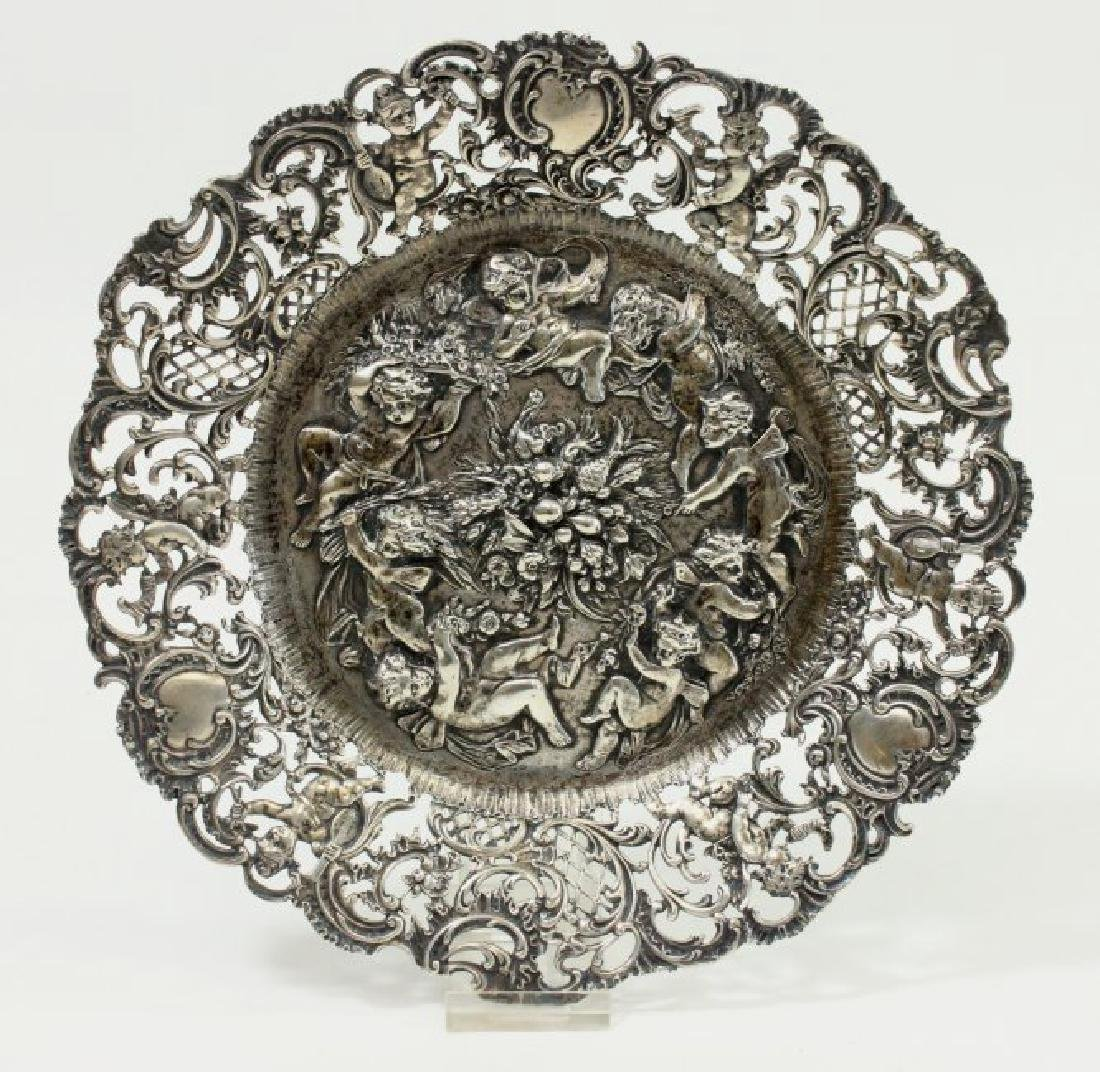 Continental 800 Silver Repousse Plate