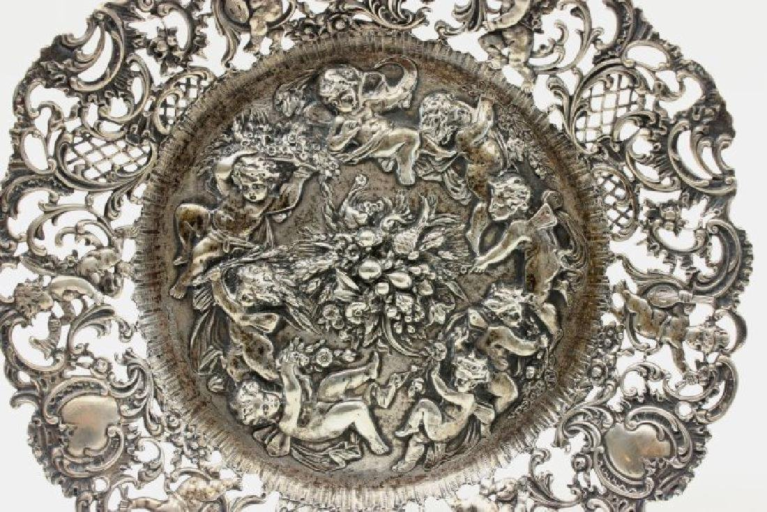 Continental 800 Silver Repousse Plate - 2