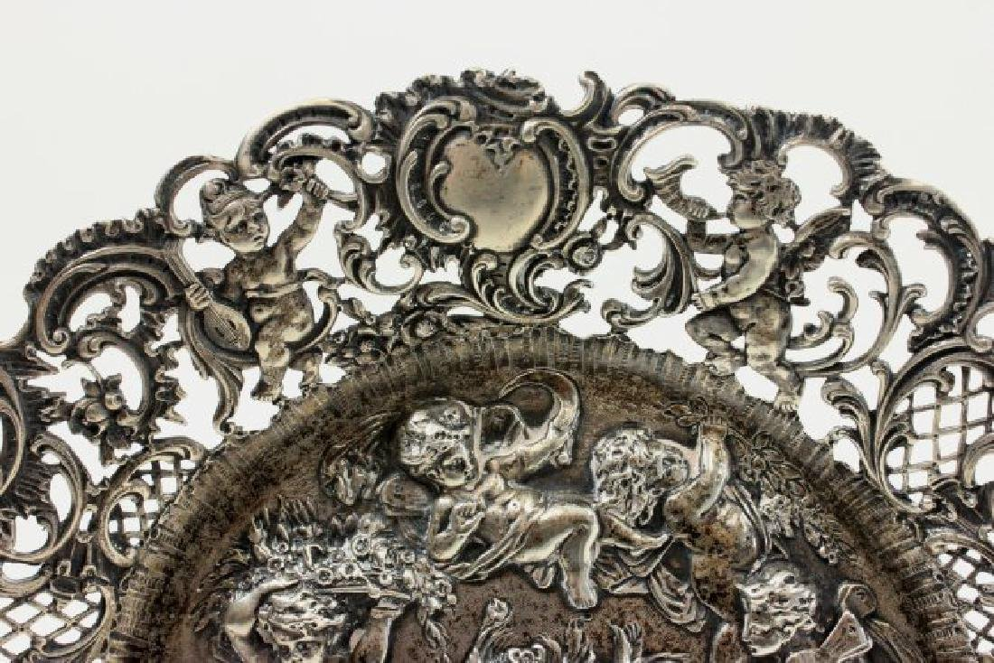 Continental 800 Silver Repousse Plate - 3