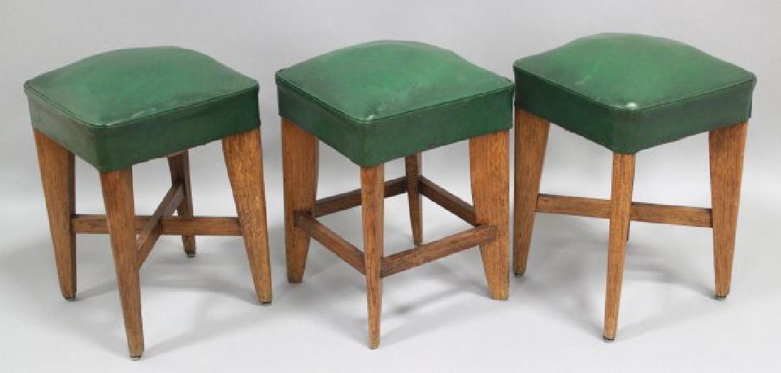 Set of 3 Art Deco Oak Benches