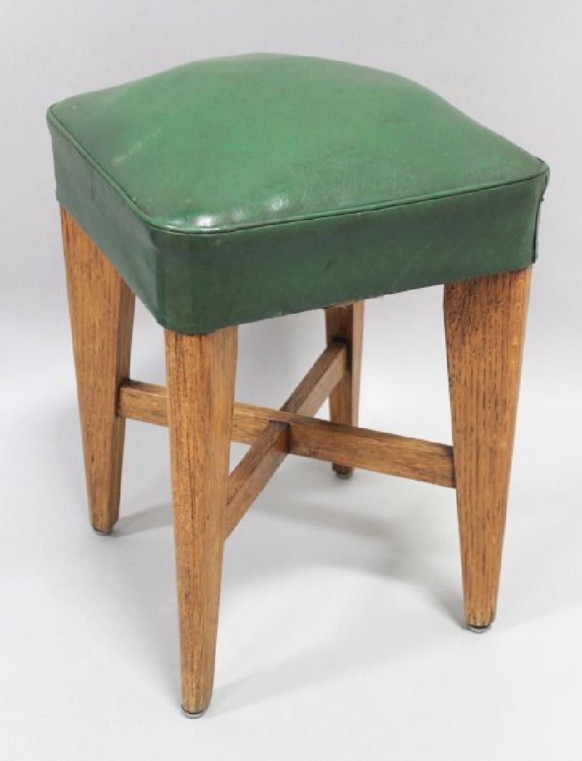 Set of 3 Art Deco Oak Benches - 2