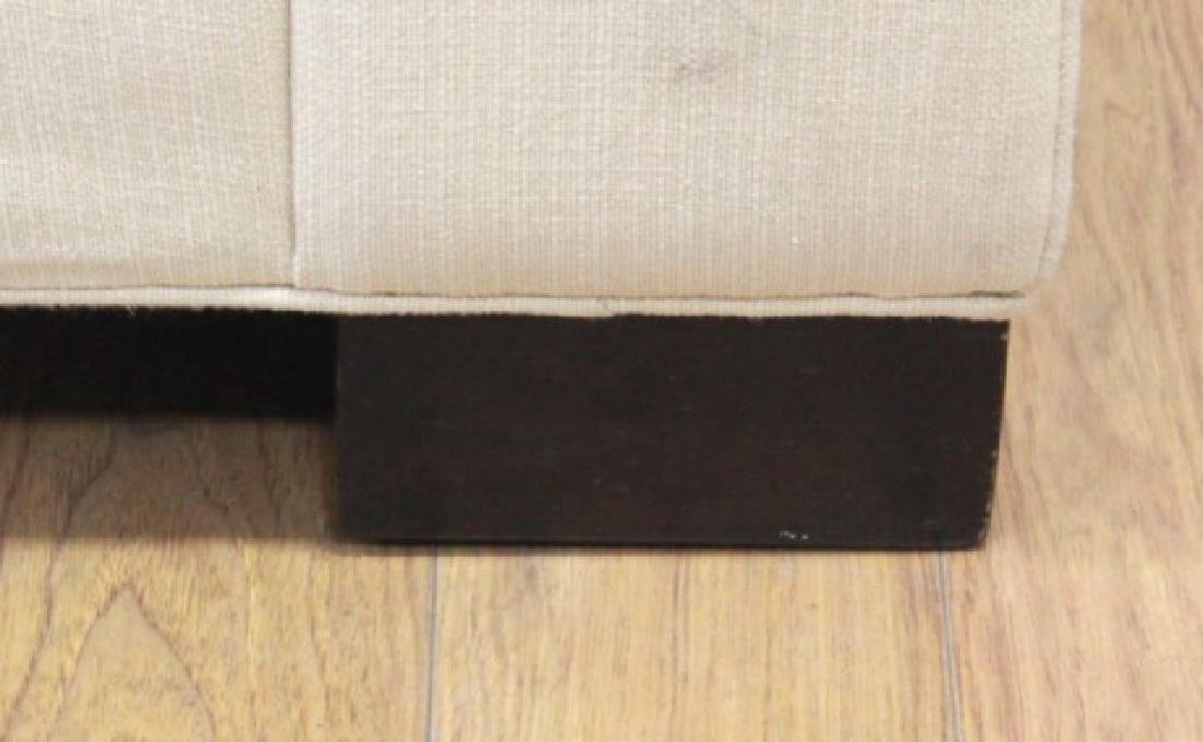 Pair Contemporary Beige Woven Cotton Recamiers - 4