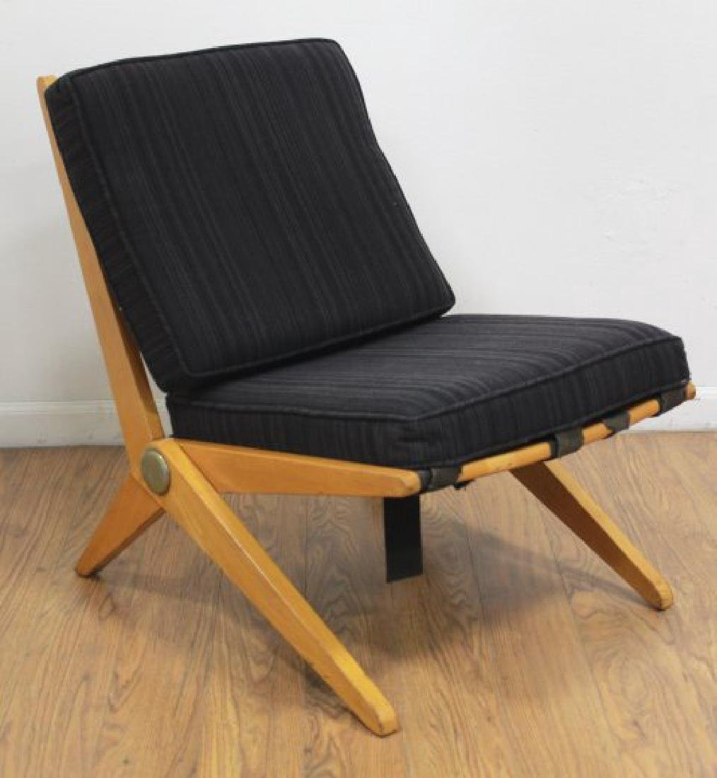 Mid-Century Birch Cantilever Side Chair