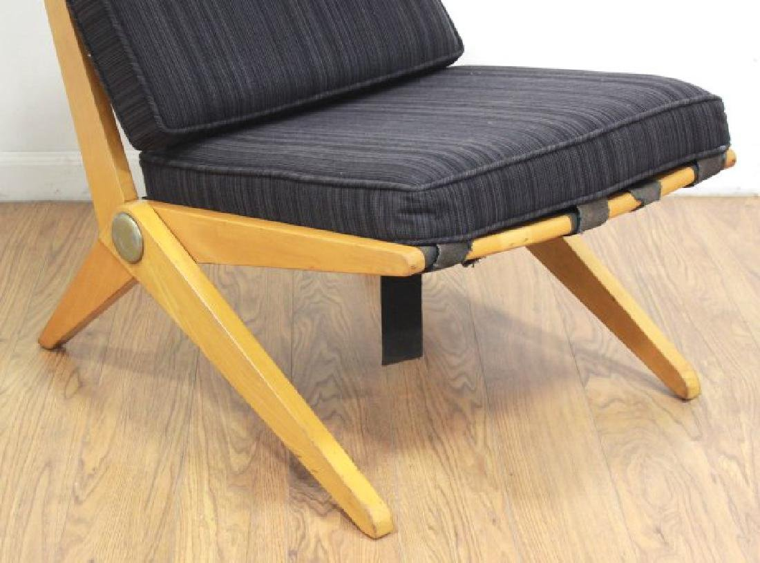 Mid-Century Birch Cantilever Side Chair - 2