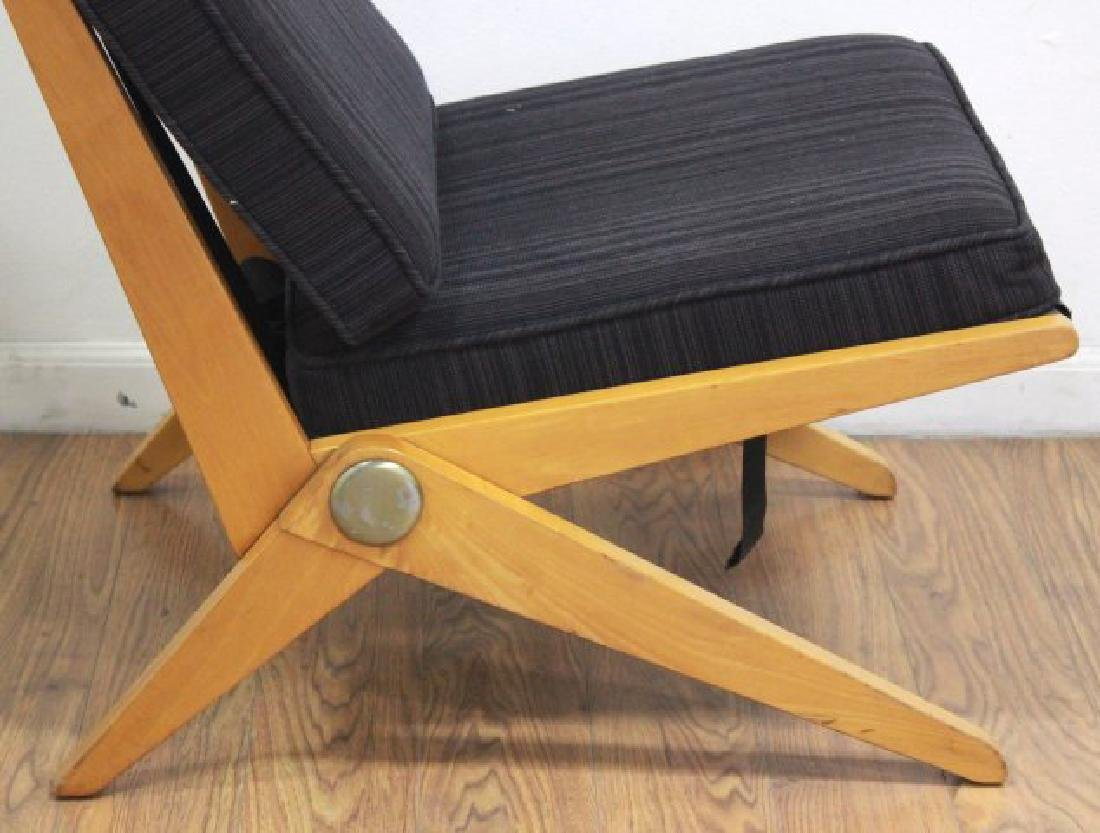 Mid-Century Birch Cantilever Side Chair - 3
