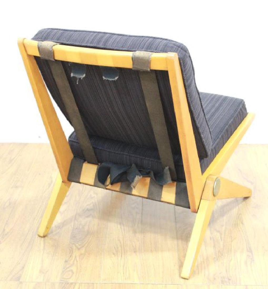 Mid-Century Birch Cantilever Side Chair - 4