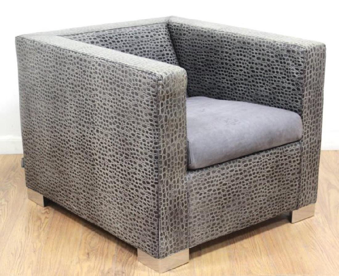 Minotti Leather Upholstered Club Chair