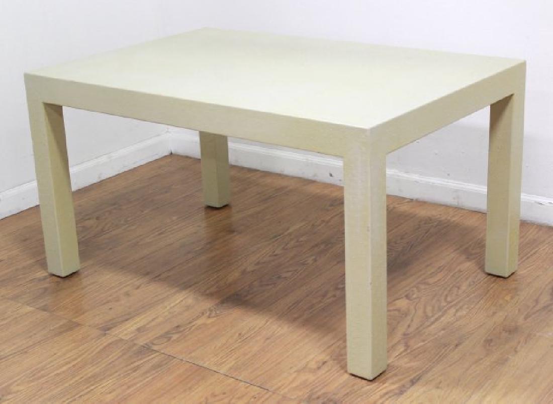 Karl Springer Style Ostrich Skin Veneered Table