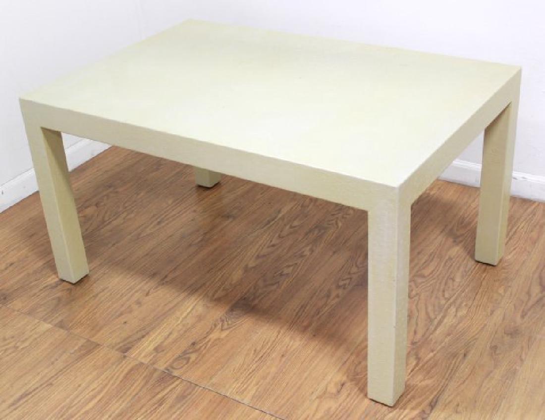 Karl Springer Style Ostrich Skin Veneered Table - 2