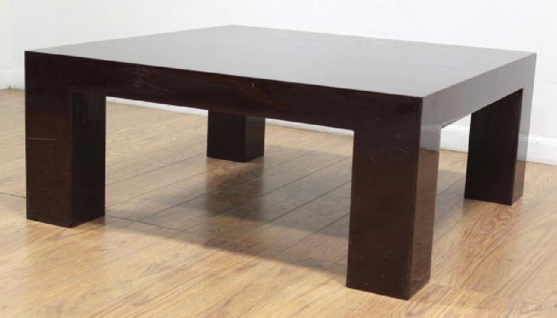 Jonathan Adler Burgundy Lacquer Coffee Table