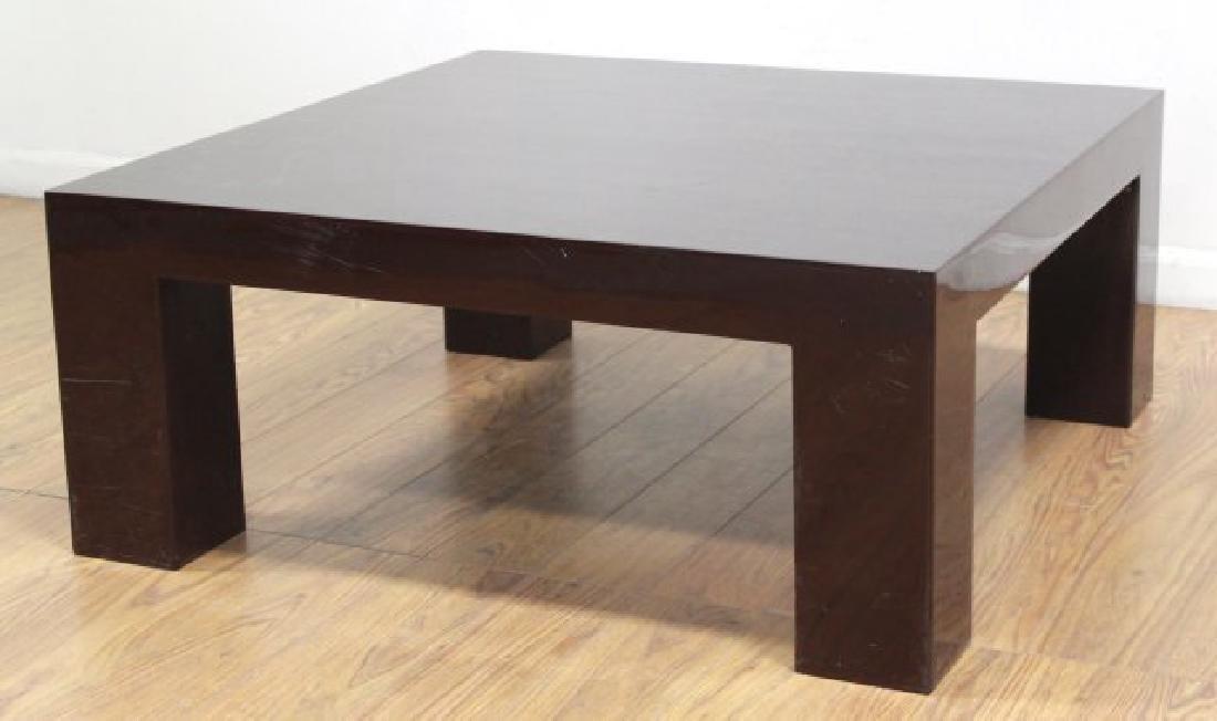 Jonathan Adler Burgundy Lacquer Coffee Table - 2