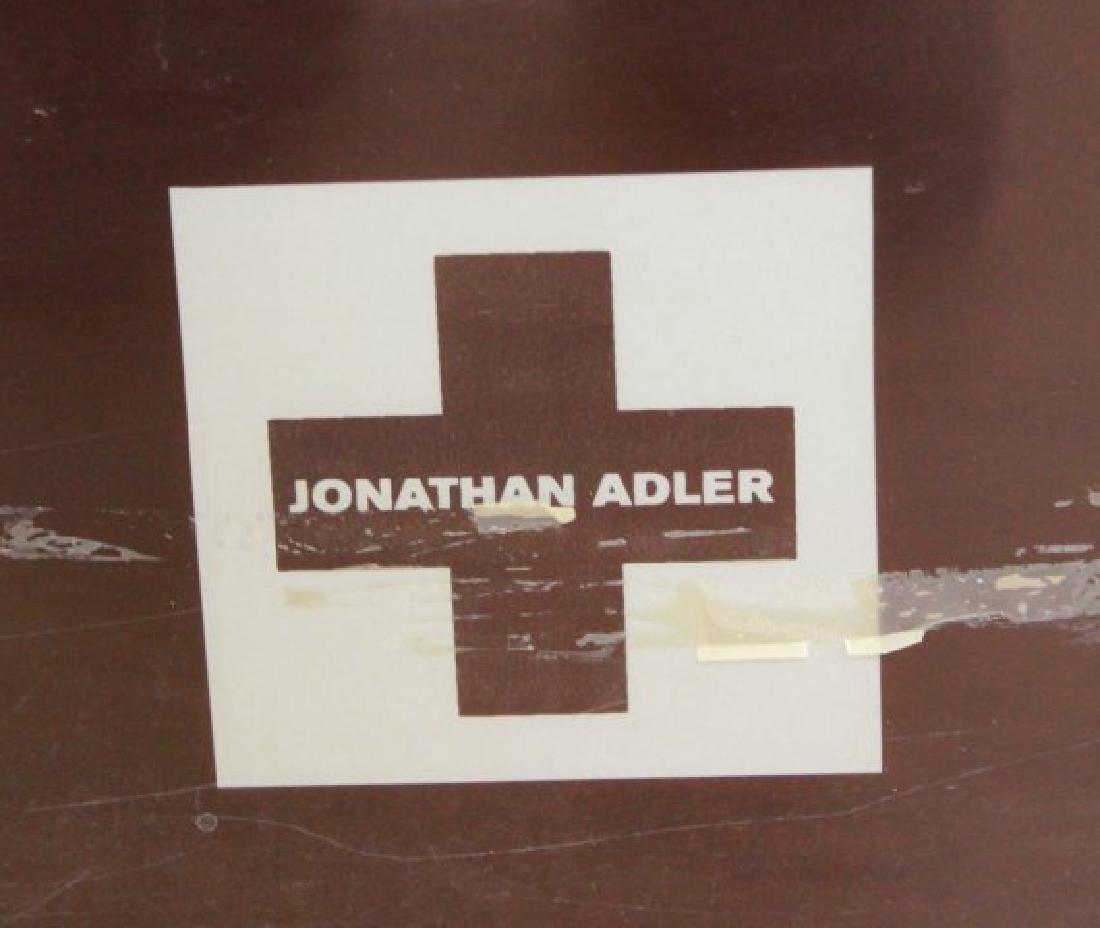 Jonathan Adler Burgundy Lacquer Coffee Table - 4