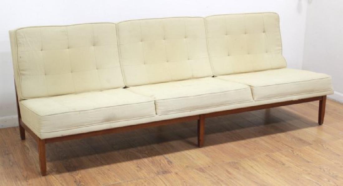 Florence Knoll Walnut Sofa