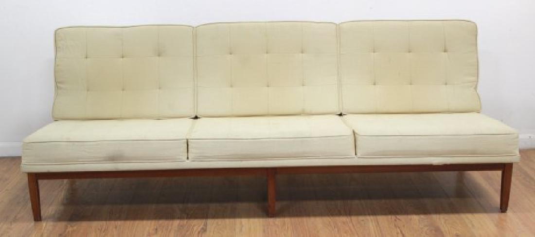 Florence Knoll Walnut Sofa - 2