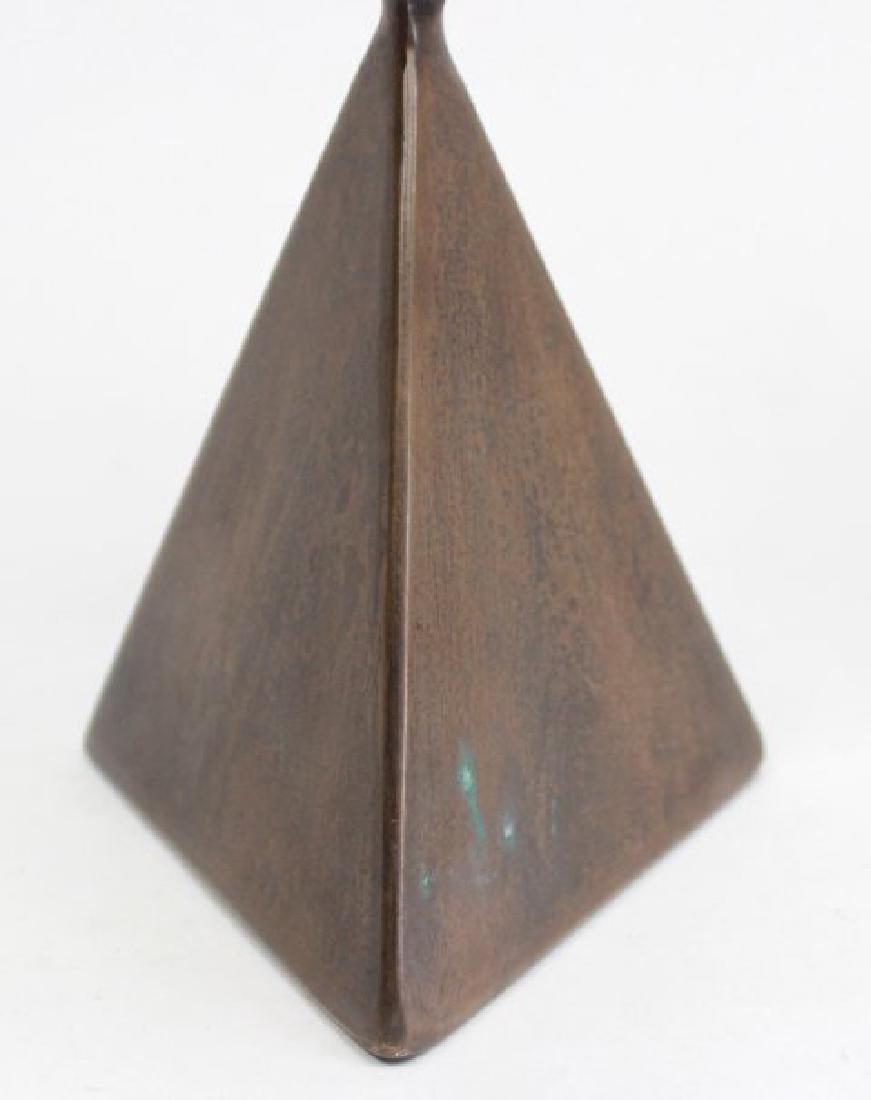 Pair Vladimir Kagan Miniature Bronze Pedestals - 3