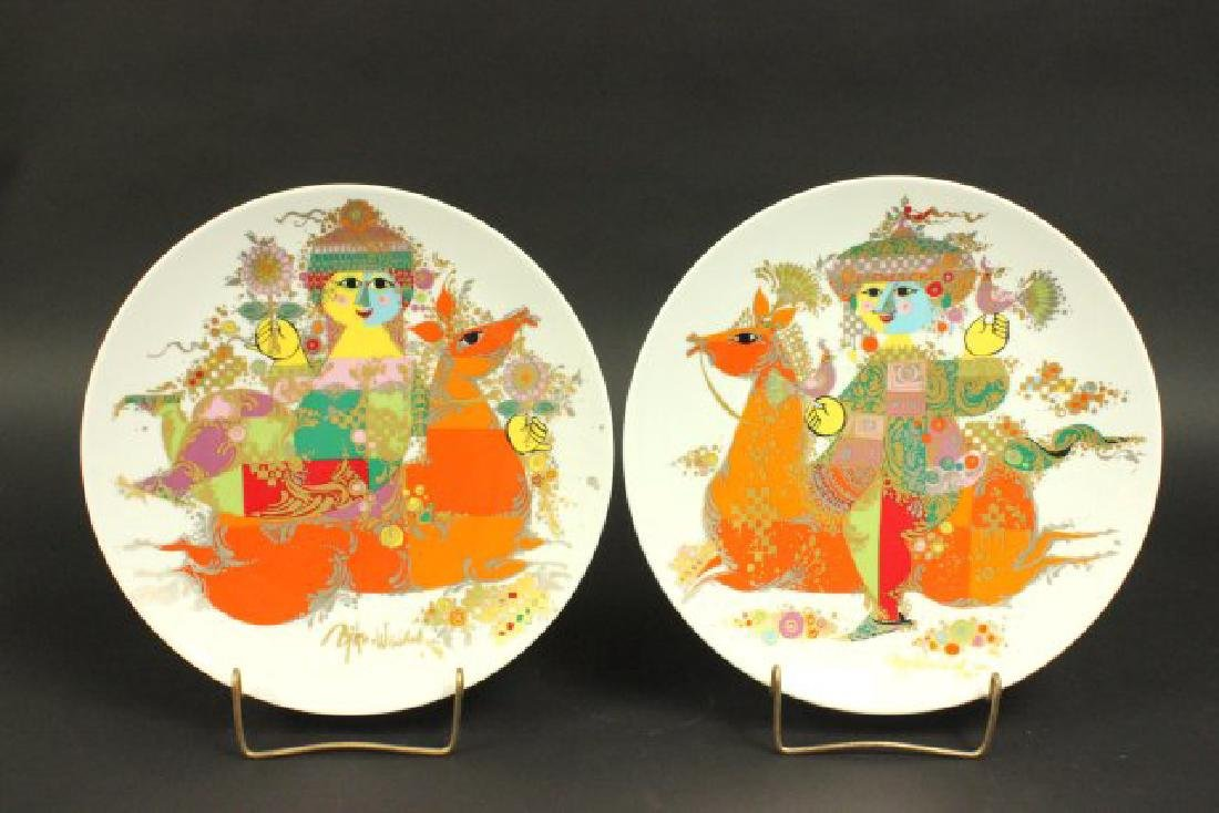Pair Bjorn Wiinblad Thousand & One Nights Plates