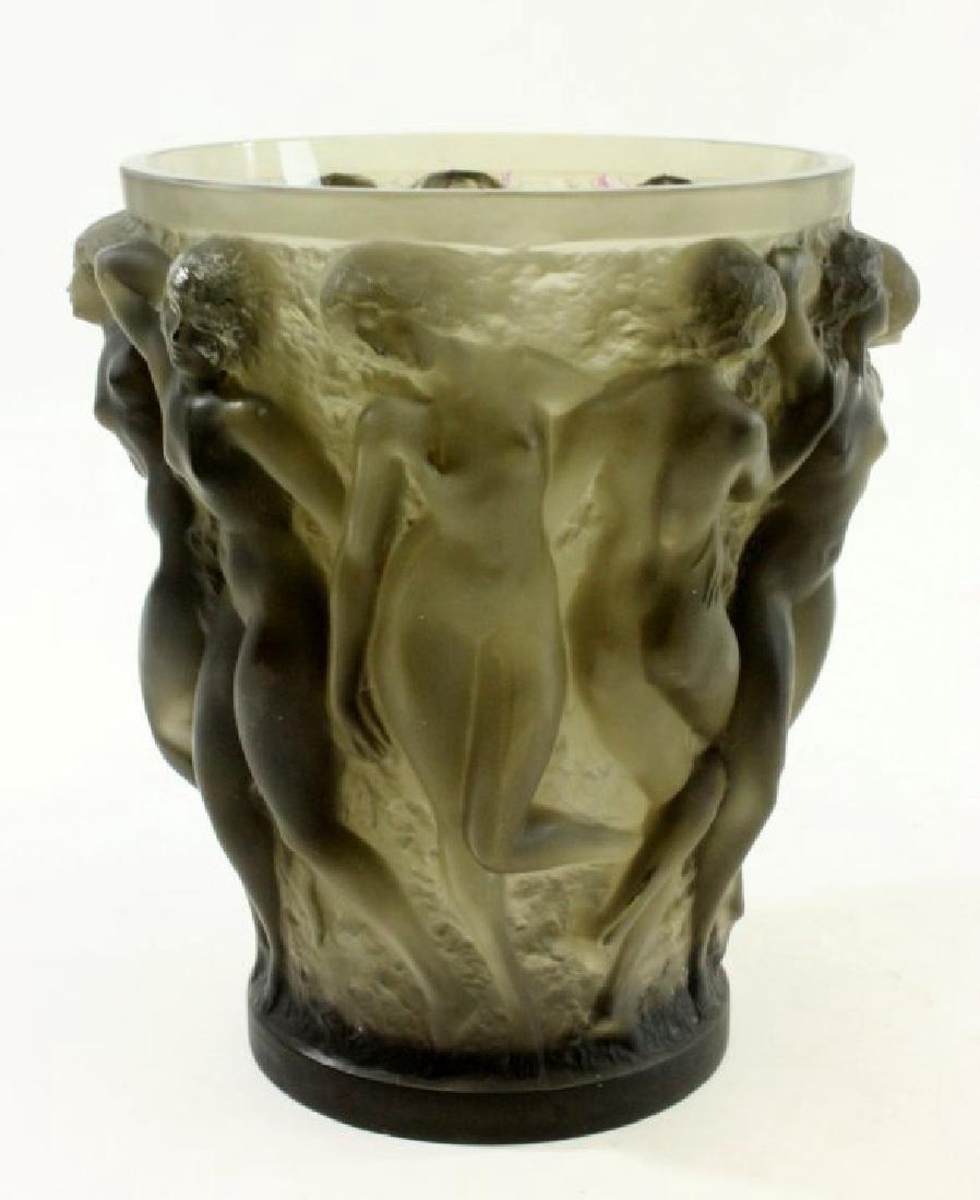 1920s Rene Lalique Bacchantes Vase