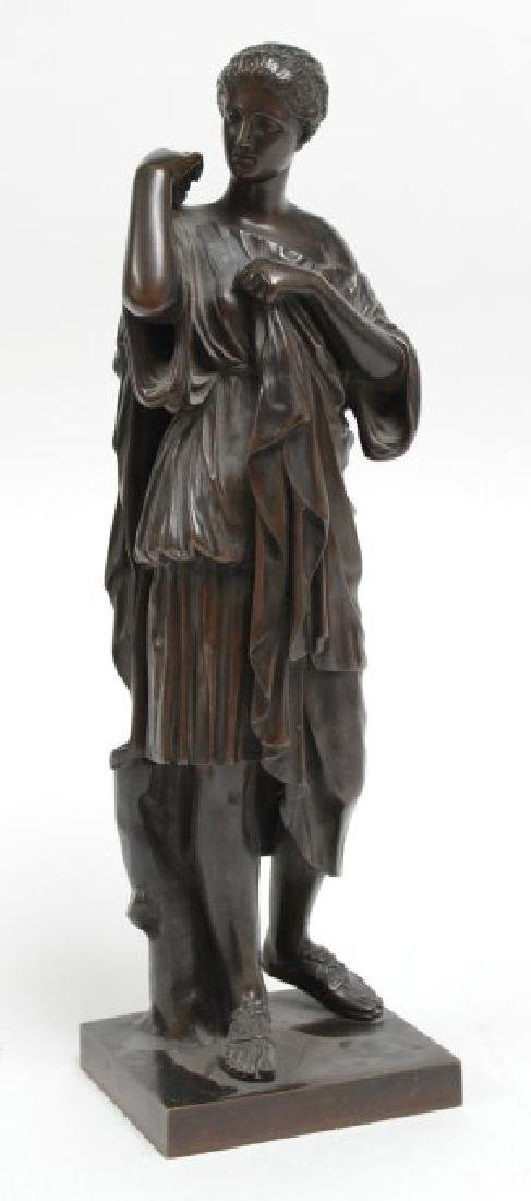 Classical Bronze of Standing Woman