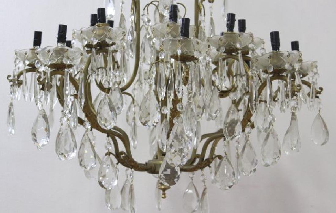 Bronze & Crystal 16-Light Chandelier - 2