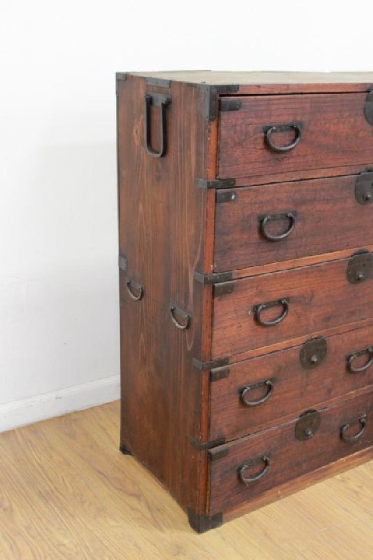 Japanese Wrought Iron & Stained Pine Tanzu - 2