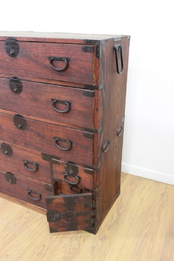 Japanese Wrought Iron & Stained Pine Tanzu - 3