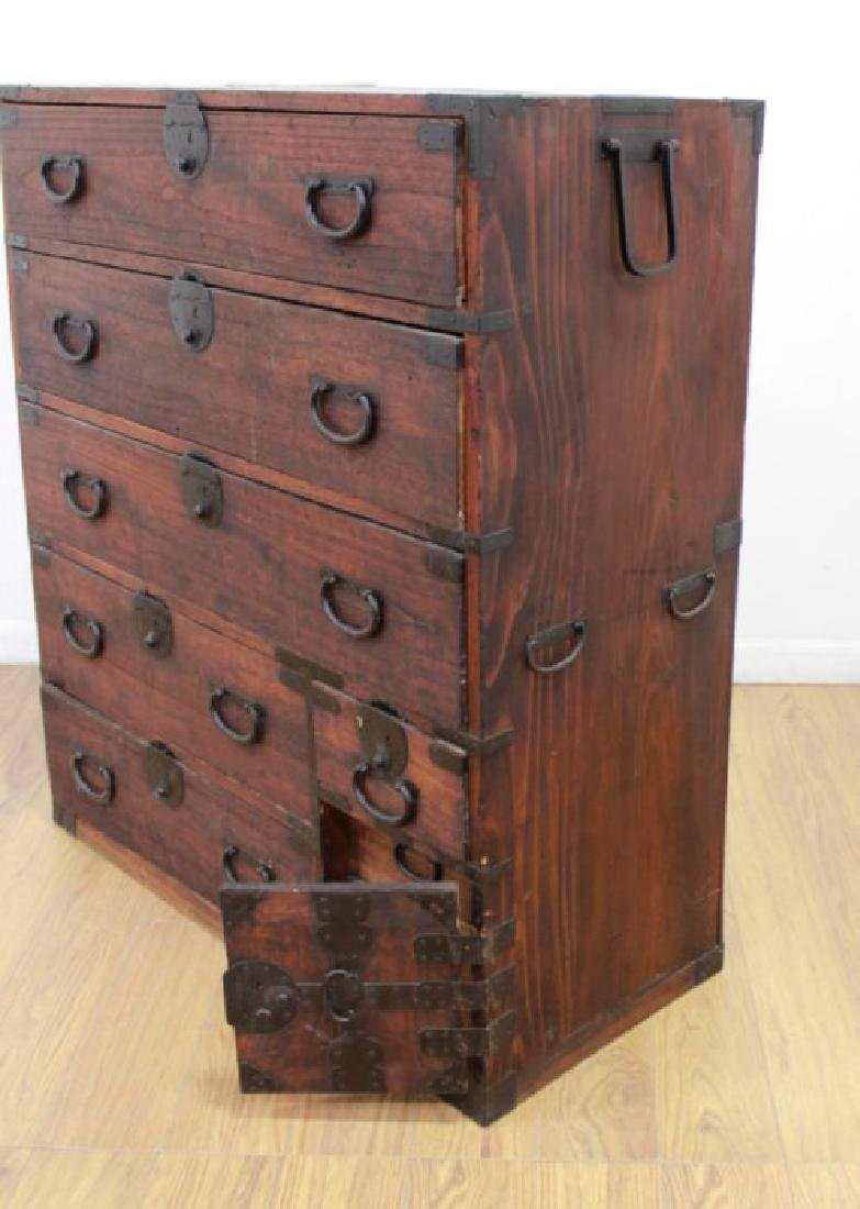 Japanese Wrought Iron & Stained Pine Tanzu - 5