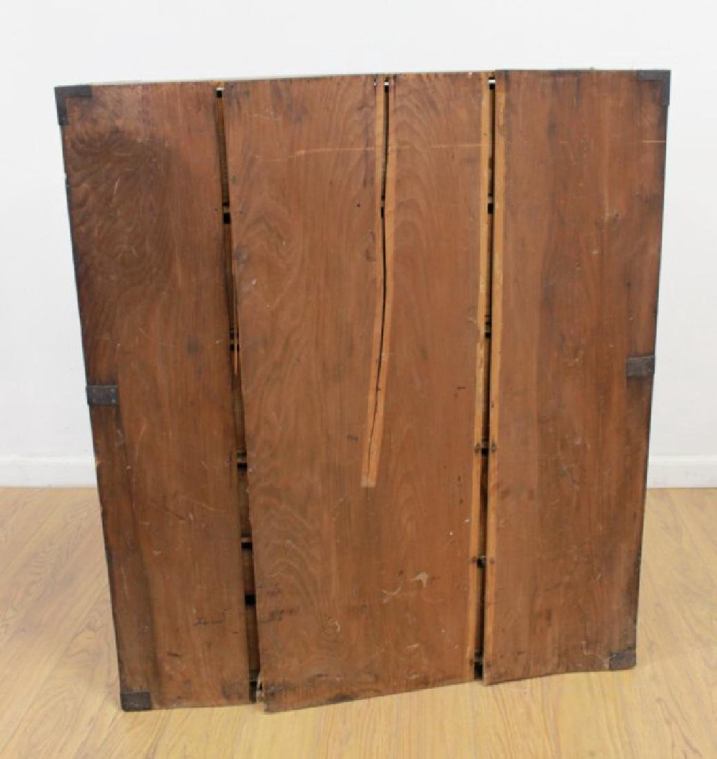 Japanese Wrought Iron & Stained Pine Tanzu - 6